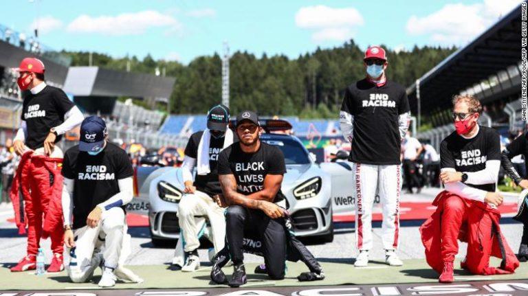 Os motoristas de Fórmula 1 divididos em optar por não se ajoelhar em apoio ao movimento Black Lives Matter