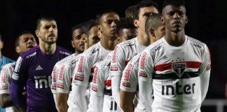 Os titulares do São Paulo na eliminação para o Mirassol no Morumbi
