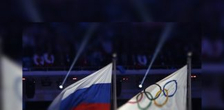 Bandeira da Rússia nas Olimpíadas