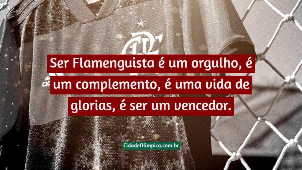 Ser Flamenguista é um orgulho, é um complemento, é uma vida de glorias, é ser um vencedor.