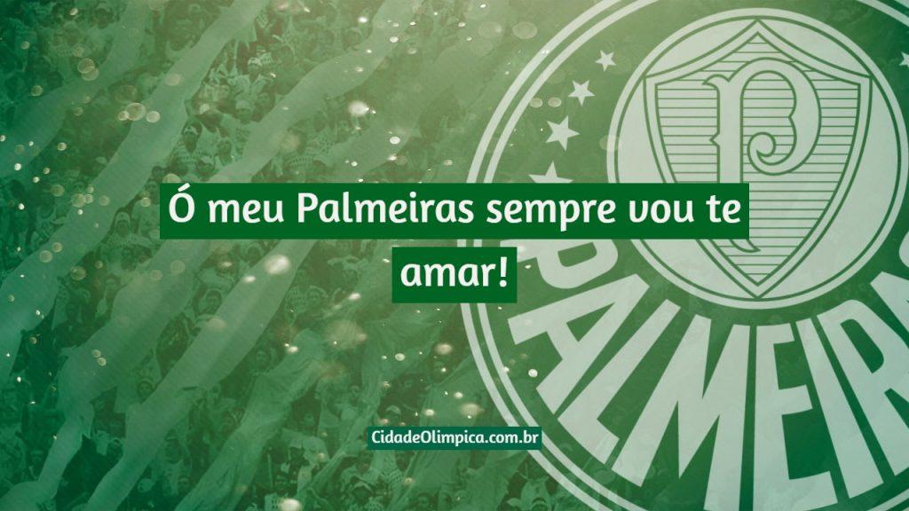 Ó meu Palmeiras sempre vou te amar!