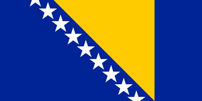 Bandeira Bósnia e Herzegovina