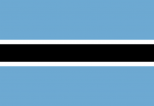 Bandeira Botswana (ou Botsuana)
