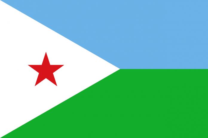 Bandeira Djibouti (ou Djibuti)